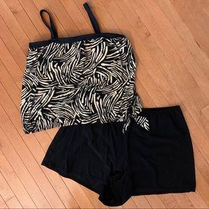 Maxine of Hollywood Sz 22W Tankini Swimsuit